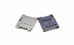 Micro SIM 卡座连接器 H1.28, 8Pin