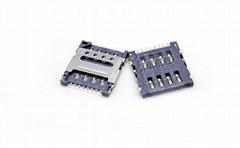 MICRO SIM 卡座连接器 HINGE TYPE 1.5H