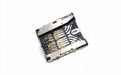 SD 7.0卡座连接器 Non-Push 23Pin
