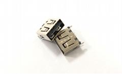 双向USB 2.0 直立式母座