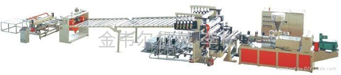 PCV结皮发泡板生产线 3