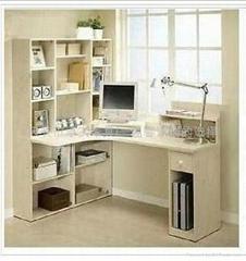 简约现代白枫色书桌转角电脑桌