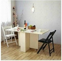 韓式折疊餐桌簡潔典雅天然純樸卓實傢具居家必備