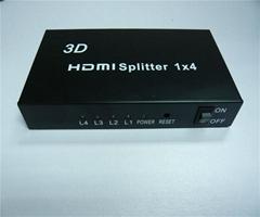 高清分配器 1进4出支持3D 大促销