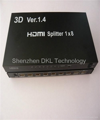 Premium 3D 8 port 1x8 HDMI Splitter