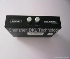 2进1出VGA切换器 2x1 VGA 切换器 无需电源