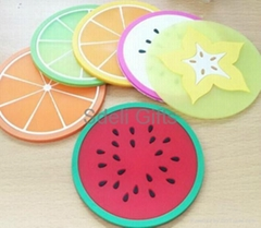 soft pvc cup pad coaster