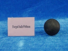 Forged balls for gold mine