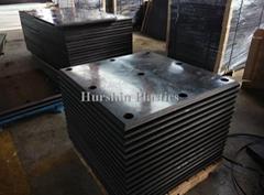 Black PE-HD Plastic sheets for Marine