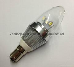 調光5W E14 LED蠟燭燈泡