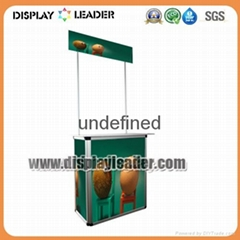 Aluminum Advertising Promotion Counter Table Display Stand