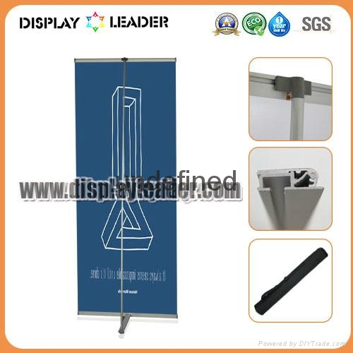 High Quality ALuminum Advertising L Banner Display Stand 2