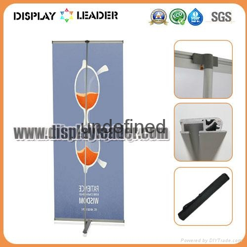 High Quality ALuminum Advertising L Banner Display Stand 3