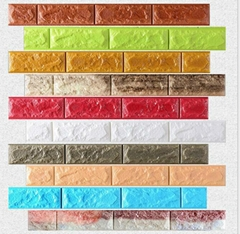 new XPE faux brick wall panels 3D korean style decoration wall panels