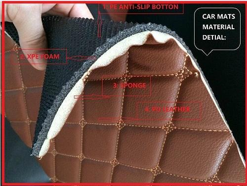 Xpe Leather Car Floor Mats 5d For Porsche Peugeot Buick