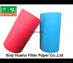 Car air filter paper with acrylic resin