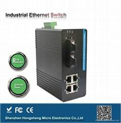 千兆自愈环网管理型两光六电安全工业交换机
