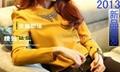 韩版小V领镶钻雪纺衬衫 2