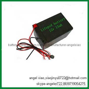 electric scooter battery 12v 15ah 36v 15ah lifepo4 battery 4