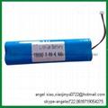 7.4v 4.4ah lithium 18650 battery li ion