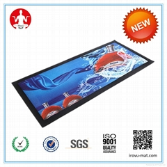 digital printed  rubber and non woven NBR bar  mat