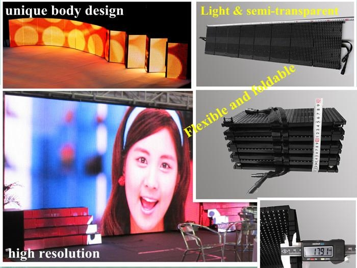 Newest Foldable and flexible led display P10mm hot sale 1