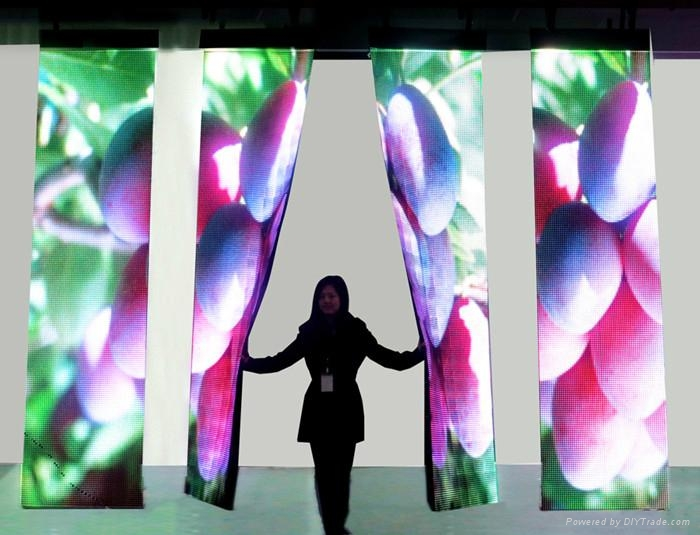 P6 P7 p12.5 indoor flexible led display soft led video screen high quality 2