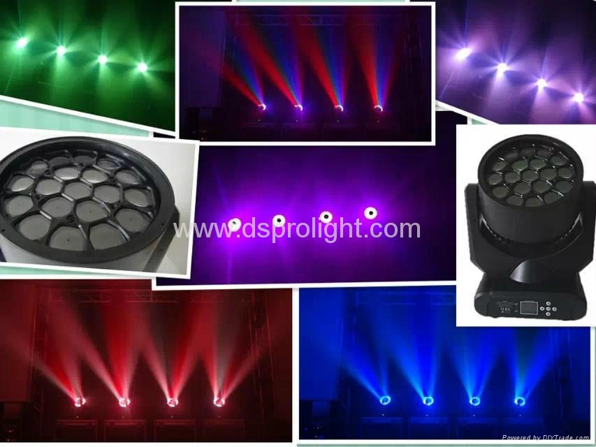 19pcs 12W LED Moving Head similar to Sharpy B-EYE for disco club light 4