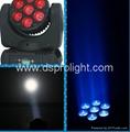 7pcs 12W RGBW mini LED Moving Head beam