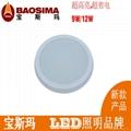 LED厨卫灯12W圆形(明装)