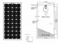 单晶硅太阳能电池组件80W-100W
