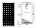 单晶硅太阳能电池组件110W-