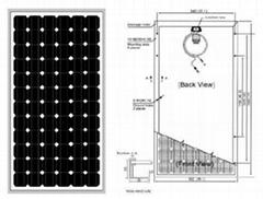 单晶硅太阳能电池组件140W-160W