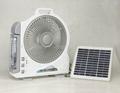 Solar fan with light