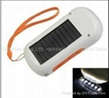 Solar dynamo radio with flashlight and phone charger 1