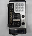 Solar dynamo radio with flashlight and phone charger 4