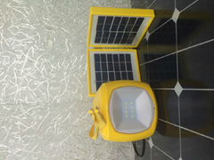 solar lantern/ solar light  with folding solar panels