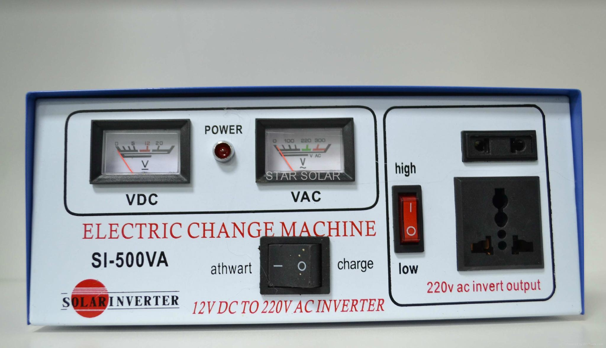 Modofoed sine  wave inverter  300W 500W/12v 6