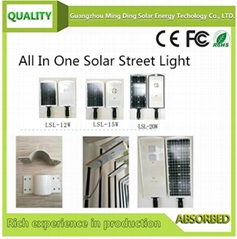 12W All-in-one Solar Street Light
