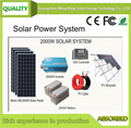 On Grid/Off Grid Rooftop Solar System/Solar Power System 2KW
