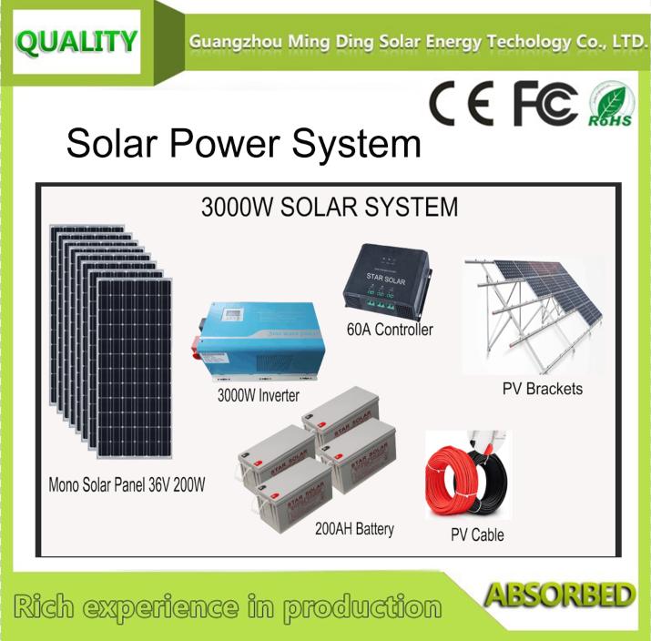 屋顶太阳能系统SP-3KW 1