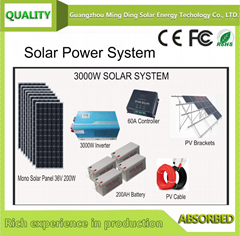 On Grid/Off Grid Rooftop Solar System/Solar Power System 3KW