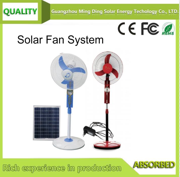 Solar Fan Without Panel/Solar Fan With Lighting System / Solar Rechargeable Fan 1