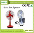 太阳能风扇不配太阳能板/太阳能照明风扇/太阳能直流风扇 SF-04高
