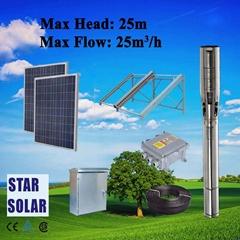 太陽能潛水泵光伏系統 無需市電全自動運行