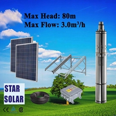 Solar Centrifugal Pump Stainless Steel Deep-well Submersible Pump