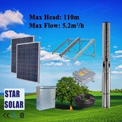太阳能离心泵系统 不锈钢深井潜水泵