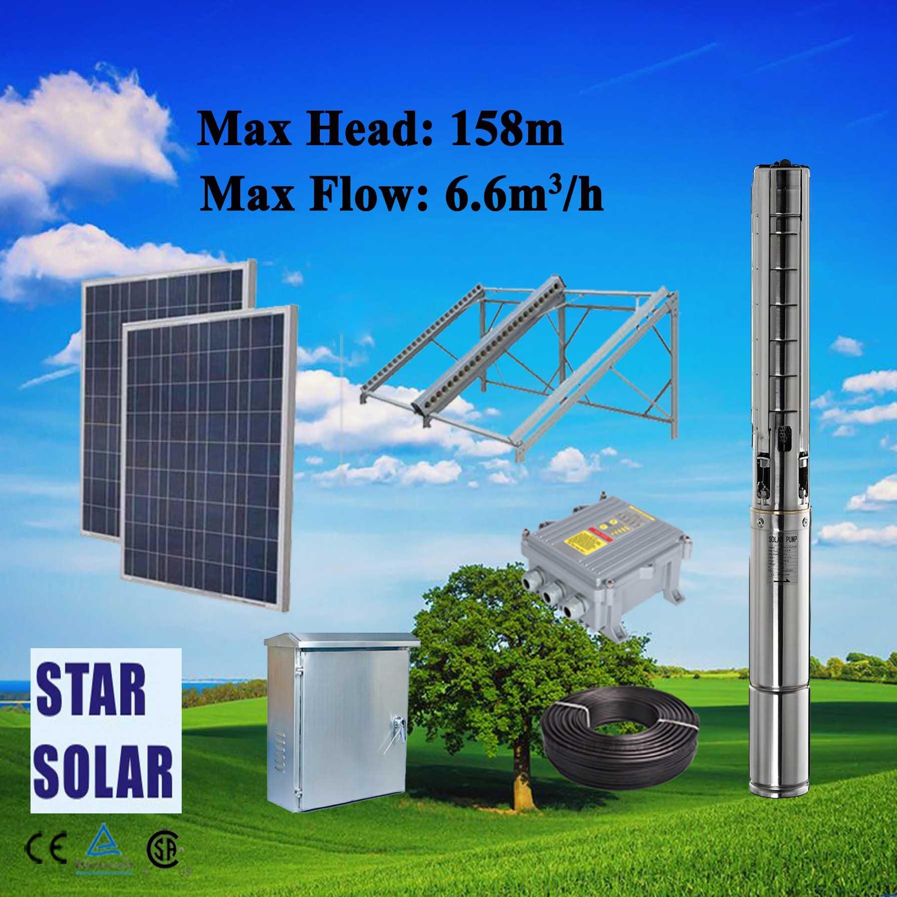 太阳能农用高扬程大流量潜水泵系统 1