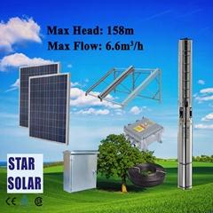 太陽能農用高揚程大流量潛水泵系統