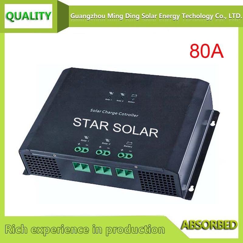 48V 80A PWM 高效率太阳能光伏控制器 1